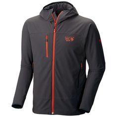 11e396755 Mountain hardwear mens xl super chockstone hooded climbing softshell jacket