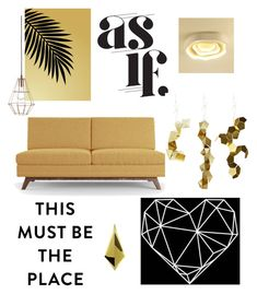 """As if"" by zpeale ❤ liked on Polyvore featuring interior, interiors, interior design, home, home decor, interior decorating, Joybird, Bloomingville and mustard"