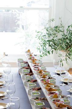 wood planks on bricks for height. Holiday Entertaining with Appetizers in Mini Dishes   Oh Happy Day!