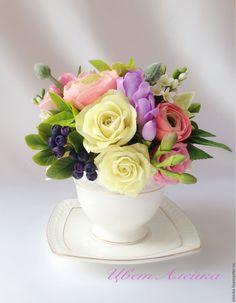 Цветы из фарфора купить екатеринбург букет на свадьбу из конфет и гофрированной бумаги