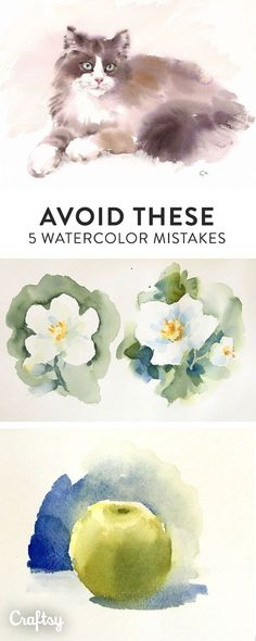 9 Reasons Watercolor Paintings Go Wrong — and How to Get Things Right! Making mistakes is part of the painting process — but they're still avoidable! Learn about five common mistakes watercolorists make and how to fix them. Watercolor Painting Techniques, Watercolour Tutorials, Painting Process, Painting Lessons, Watercolour Painting, Painting & Drawing, How To Watercolor, Painting Tips, Matte Painting