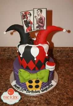 Harley Quinn and The Joker birthday cake.