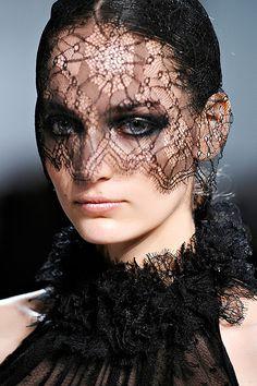 Transparent black lace