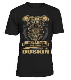 DUSKIN - I Nerver Said