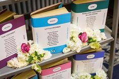 Bookcase table plan for a book themed wedding at The Signet Library, Edinburgh, created by Origami Fox + Planet Flowers. creative wedding stationery designed by Origami Fox