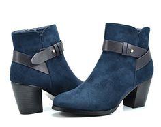 DREAM PAIRS TRUPA Women's Stylish Ankle Side Zipper Belte...