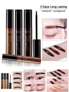 [Visit to Buy] Peel Off  Eyebrow Gel + Eyebrow Stencil Enhancer Brow Gel Dark Brown Gray Black Color Waterproof Eyebrow Tint Gel Makeup  #Advertisement