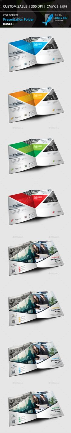 Presentation Folder Bundle - Stationery Print Templates