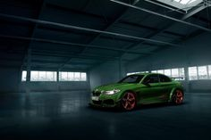 A green upgraded BMW will be presented at the Geneva Motor Show 2016 by the German tuning company AC Schnitzer. Bmw F22, Hulk, Peugeot, Bmw M235i, Tuning Bmw, Mercedes Amg Gt S, Ac Schnitzer, Bmw Performance, Geneva Motor Show