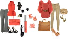 """""""Coral"""" by pita81 on Polyvore"""