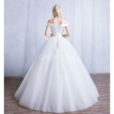 Breath-taking Off-shoulder Sleeveless Ball Gown Floor-length Wedding Dress 2017 - OACHY The Boutique #dress, #shoulder, #length, #oachy, #breath