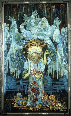 Rain's Dance by Oleg Gurenkov Triple Goddess, Dancing In The Rain, Rain Dance, Amazing Art, Printmaking, Surrealism, The Dreamers, Mythology, Illustrators