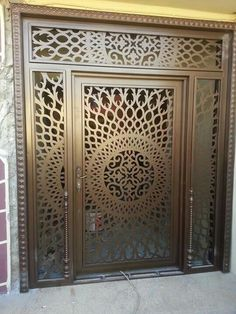 Main Gate Design, Door Gate Design, Room Door Design, Metal Gates, Wrought Iron Gates, Main Entrance Door, Entrance Gates, Jaali Design, Pooja Room Design