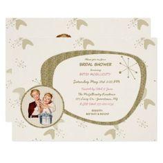 Retro Invites Blog - Retro Invites Glitter Invitations, Zazzle Invitations, Bridal Shower Invitations, Party Invitations, Invites, 1950s Bridal Shower, Retro Girls, Party Needs, White Envelopes