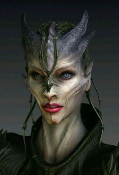 Makeup for creature - might copy the line on the cheekbones for my halloween costume this year