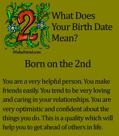 What Does Your Birth Date Mean?- Born on the 2nd