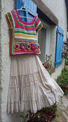 Pull Crochet, Crochet Jumper, Crochet Coat, Crochet Jacket, Crochet Cardigan, Diy Blouse, Crochet Classes, Crochet Summer Tops, Single Crochet Stitch