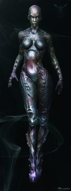 Robogirl Picture  (3d, sci-fi, cyborg, girl, woman, cyberpunk)