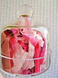 Strawberry Creme Fondant stripe pearl shimmer by thegildedbee, $2.99