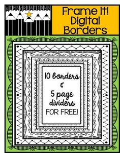 These fun black and white digital page borders will enhance your products! I have included 10 different border variations and 5 page dividers.