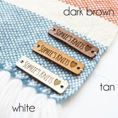 custom knitting labels, Personalized leather labels, Leather tags for handmade items, Tags for Knitt Laser Cut Leather, Leather Label, Leather Hats, Custom Leather, Real Leather, Custom Tags, Custom Labels, Laser Labels, Crochet Mug Cozy