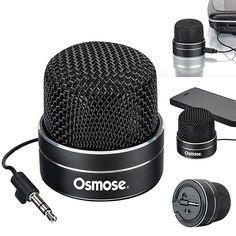 Clever design satin finish aluminum microphone head shaped speaker, 40mm size…
