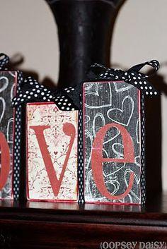 Valentine's Day - wood LOVE craft