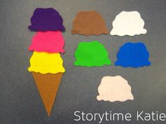 Flannel Friday: Ice Cream Colors | storytime katie