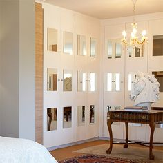 built in closets with pained mirrors | Home-Dzine - Revamp built-in bedroom cupboard or closet doors