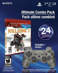 Ultimate Combo Pack - Killzone 3 Greatest Hits & Dualshock 3 wireless controller - http://www.psbeyond.com/view/ultimate-combo-pack-killzone-3-greatest-hits-dualshock-3-wireless-controller - http://ecx.images-amazon.com/images/I/51vFttnDDiL.jpg