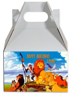 World of Pinatas - Lion King Personalized Gable Box (set of 6), $11.99 (http://www.worldofpinatas.com/lion-king-personalized-gable-box-set-of-6/)