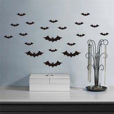 20pcs/set  big size home wall decal sticker animal bat wall sticker black DIY sticker on sale