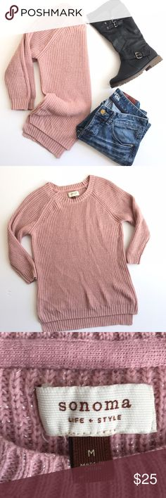 Chunky blush sweater  ✨EUC  ✨measurements upon request  ✨no trades  ✨make me an offer I can not refuse  ✨if you have any other questions let me know   Always thank you for shopping and don't forget to save 20% by bundling Sonoma Sweaters Crew & Scoop Necks