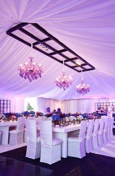 Lavender lilac and purple wedding decor Long Table Wedding, Tent Wedding, Wedding Reception Decorations, Wedding Themes, Wedding Designs, Wedding Events, Our Wedding, Dream Wedding, Wedding Receptions
