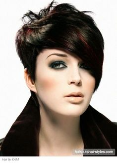 brown hair with red highlights short hair - Google Search