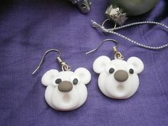 Christmas Novelty Fimo Earrings POLAR BEAR £1.99
