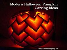 Modern Halloween Pumpkin Carving Ideas