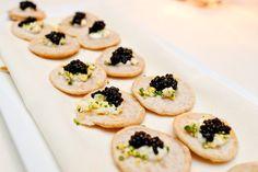 Caviar cocktail bites