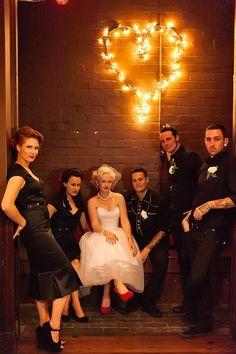 Retro wedding. Absolutely loving the rock & roll vibe . #vintage #rockabilly #wedding