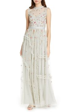 New Needle Thread Shimmer Floral Evening Dress. womens fashion dresses from top store Floral Evening Dresses, Evening Dresses Online, Dress Online, Trendy Dresses, Women's Fashion Dresses, Formal Dresses, Needle And Thread Dresses, Carina, Column Dress