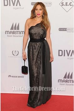 Jennifer Lopez Black Lace Evening Dress UNESCO charity gala Red Carpet