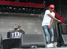 Kendrick Lamar performs during the fourth day of the Bonnaroo Music and Arts Festival.  #Bonnaroo2013