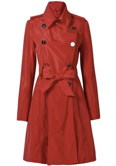 Red+Long+Sleeve+Epaulet+Belt+Trench+Coat+$63.77