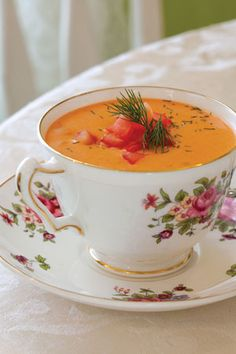 Pretty Soup in a teacup.