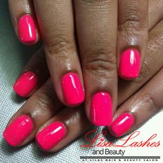 Pink Gel Nails in Burnley