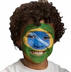 Snazaroo Brazilian Supporter #worldcup #facepaint #snazaroo  You can find the step-by-step for this guide here: http://www.snazaroo.co.uk/beginners-guide/uk/supporters_and_flags/brazilian_supporter.aspx