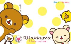 Just released. Rilakkuma wallpaper for computer & mobile screens :)