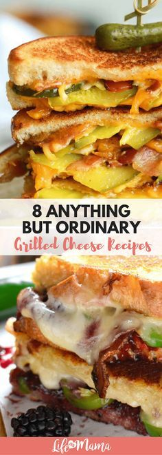 """For those of you with more """"refined"""" palettes, here are some totally non-boring twists on the classic grilled cheese sandwich. If these don't get your mouth watering, I'm not sure what will!"""