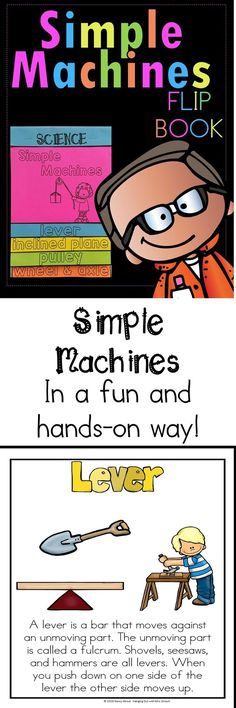 Looking for a fun way to teach Simple Machines which includes a STEM project?? Here it is! This fun flipbook will teach your students what they need to know and then they can make their own simple machine. Color, as well as, black and white. I have included pages that your students can write their own facts and draw the picture. Younger kids may want to cut and paste the pictures and the facts.