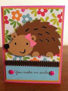 Hedgehog - You make me smile. (Create a Critter cartridge.)